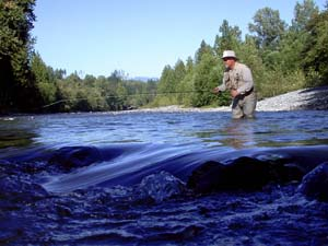 Fishing in the South Fork of the Stillaguamish River